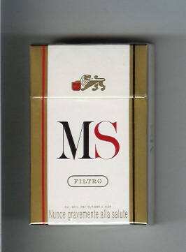 an old MS cigarette pack with health warning in Italian