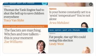 Guardian screenshots from Twitter